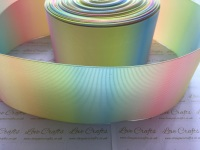 Double Sided Pastel Rainbow Ombre Grosgrain Ribbon