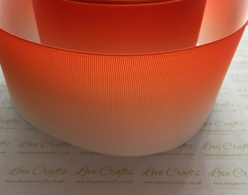 Orange Ombre Grosgrain Ribbon