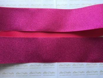 """3"""" Pink Glitter Grosgrain Ribbon"""
