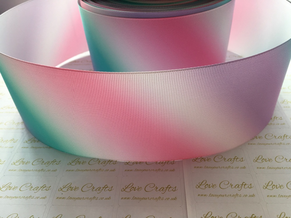 Diagonal Pastel Ombre Grosgrain Ribbon