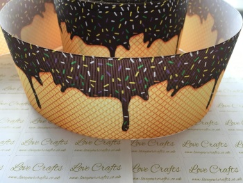 Chocolate Ice Cream Cone Grosgrain Ribbon