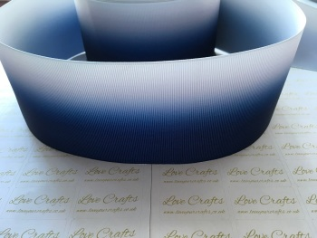 Navy Ombre Grosgrain Ribbon