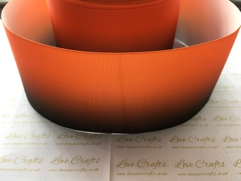 Orange/Black Ombre Grosgrain Ribbon
