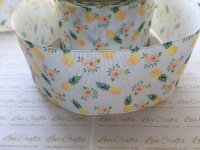 Pineapple Floral Grosgrain Ribbon