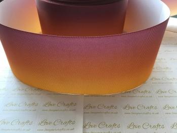Wine/Gold Ombre Grosgrain Ribbon