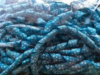 "3/8"" Turquoise Spot Korker Ribbon - 22cm"