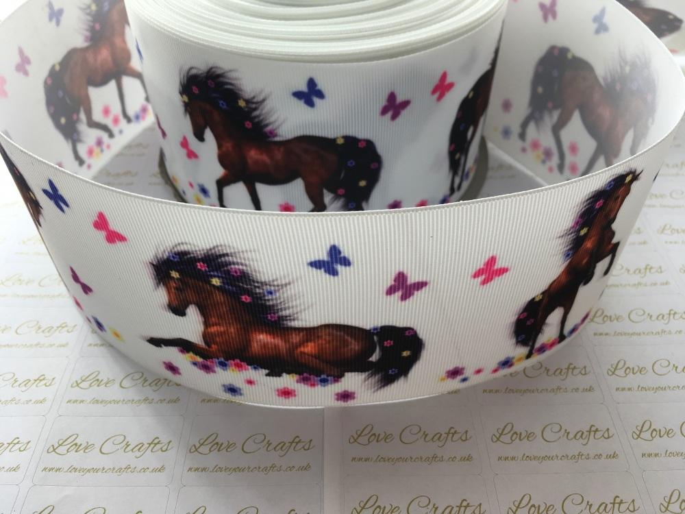 Horse Grosgrain Ribbon