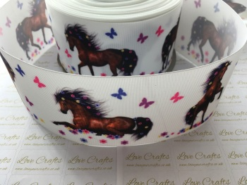 Horse Grosgrain Ribbon