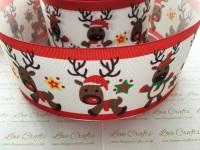 New Reindeer Grosgrain Ribbon