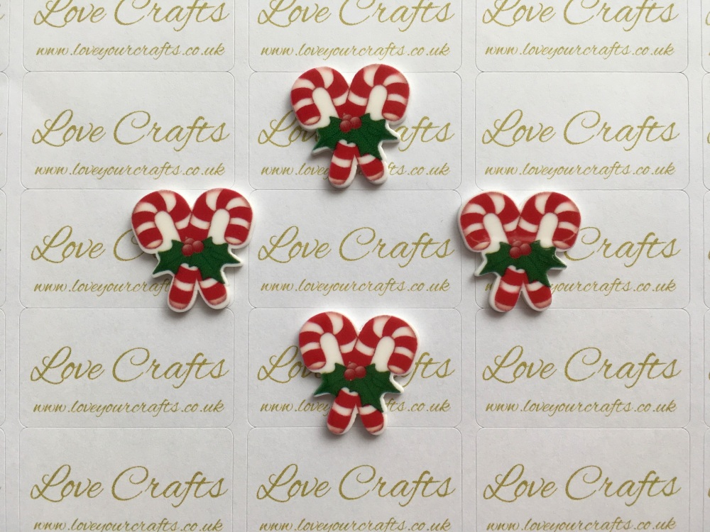 Candy Cane Laser Resin