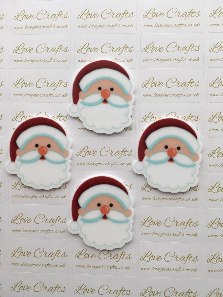 Santa Face Laser Resin