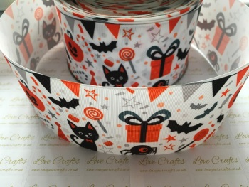 Halloween Party Grosgrain Ribbon