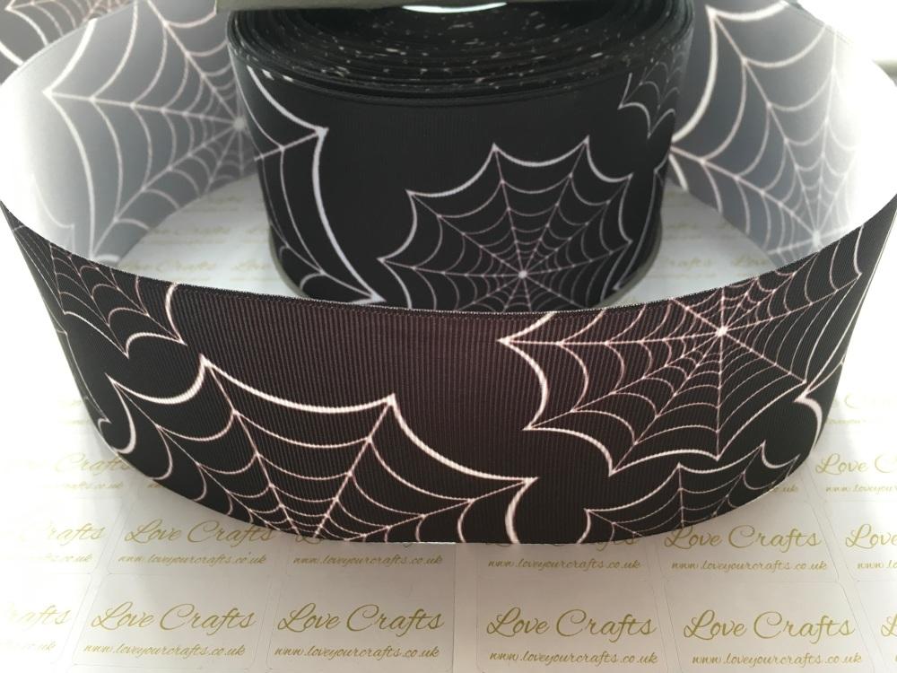 Spider Web Grosgrain Ribbon
