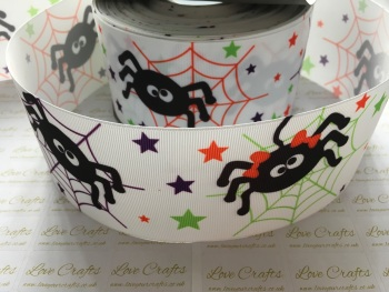 Spiders Grosgrain Ribbon