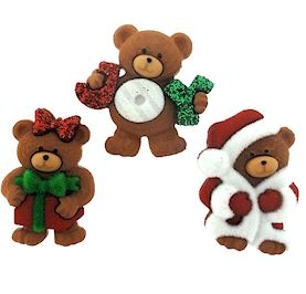 Dress It Up Buttons: A Beary Merry Christmas