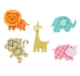 Dress It Up Buttons: Baby Safari Jungle