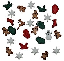 Dress It Up Buttons: Christmas Minatures