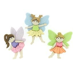Dress It Up Buttons: Flower Fairies