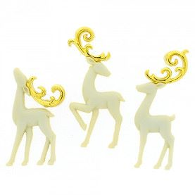 Dress It Up Buttons: Majestic Reindeer