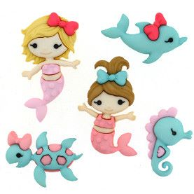Dress It Up Buttons: Mermaid Kisses