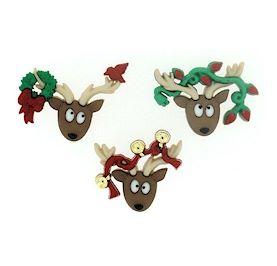 Dress It Up Buttons: Oh Deer