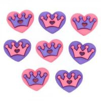 Dress It Up Buttons: Royal Hearts