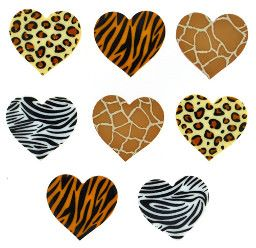Dress It Up Buttons: Safari Hearts