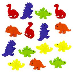 Dress It Up Buttons: Tiny Dinos