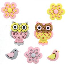 Dress It Up Buttons: Whooo Loves You