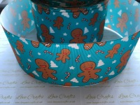 Blue Gingerbread Grosgrain Ribbon