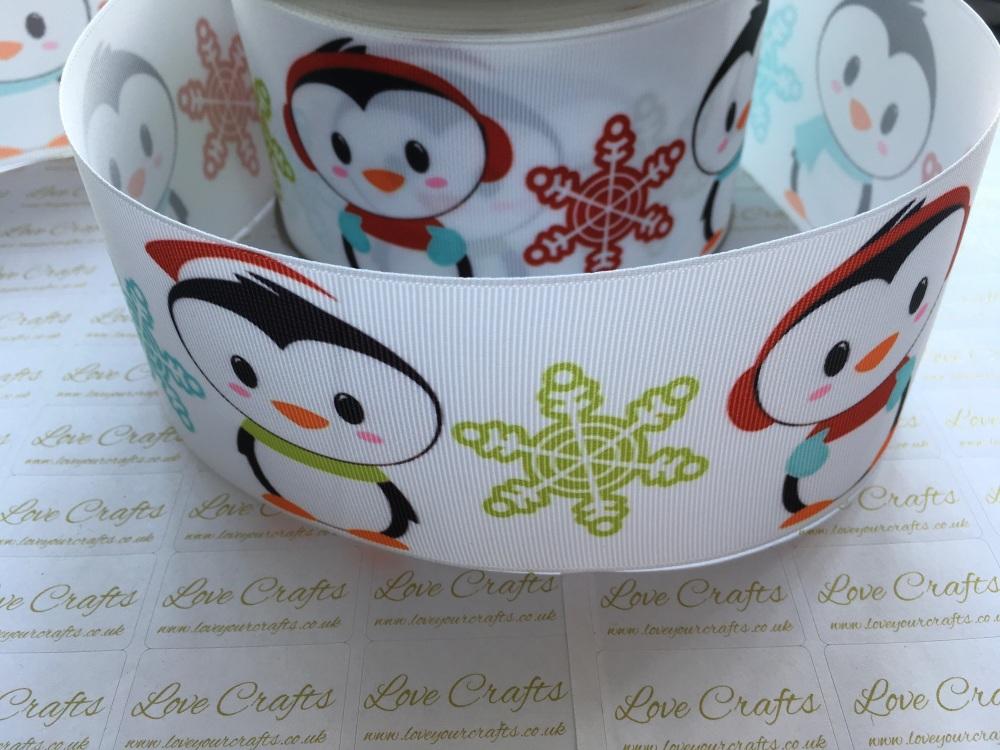 Christmas Penguins Grosgrain Ribbon