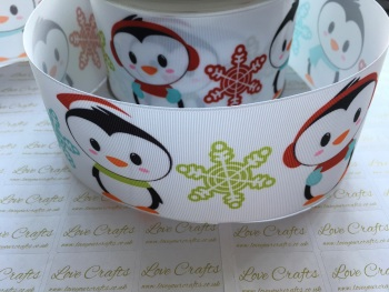 Christmas Penguins Grosgrain Ribbon