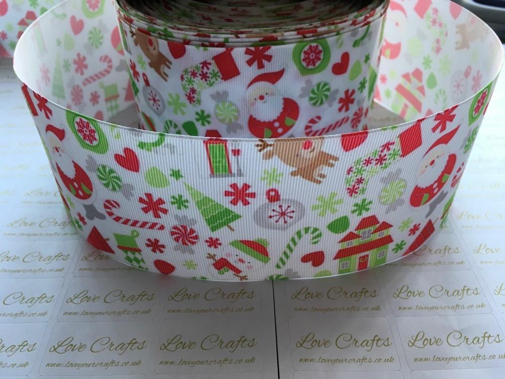 Christmas Time Grosgrain Ribbon