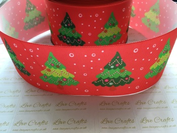 Christmas Trees Grosgrain Ribbon