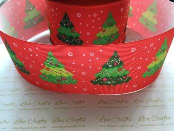 Christmas Trees Grosgrain Ribbon
