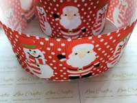 Santa & Snowman Grosgrain Ribbon