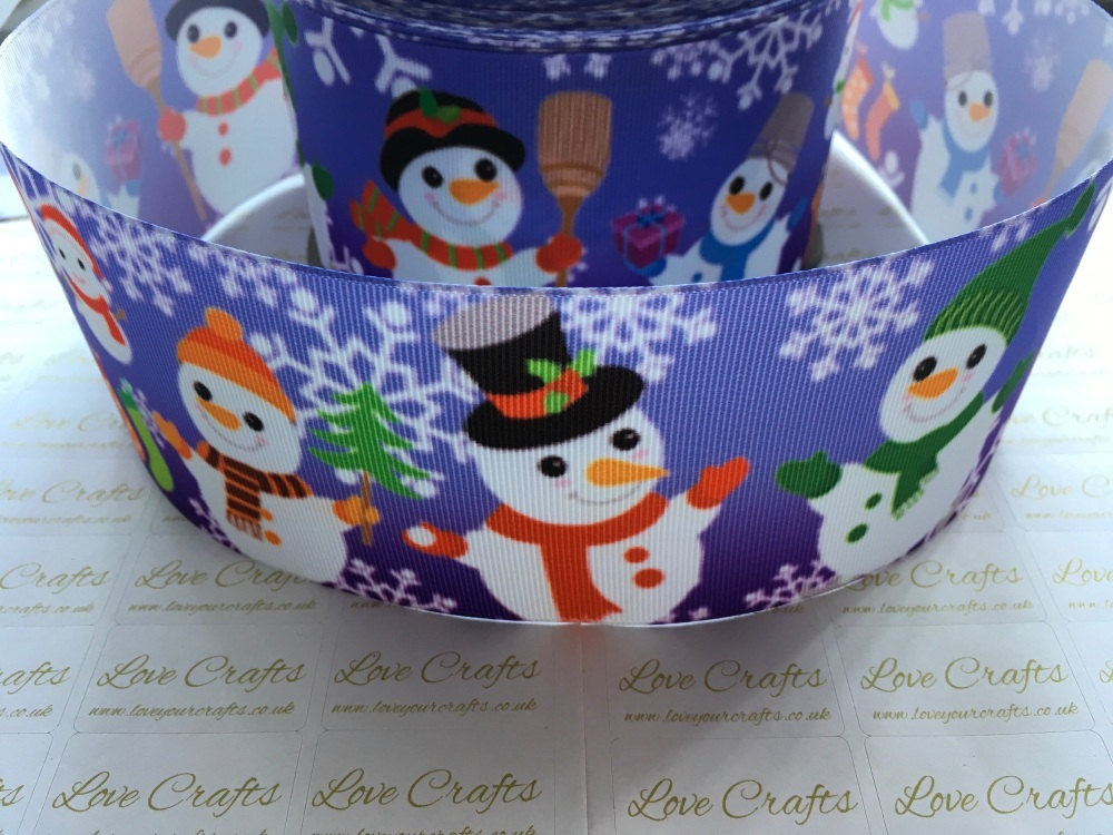 Snowmen Grosgrain Ribbon