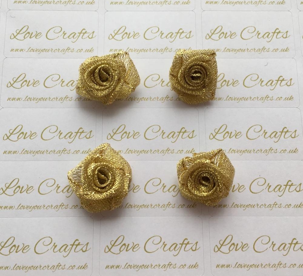 Gold Glitter Roses