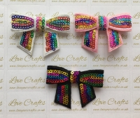 Medium Sequin Bow