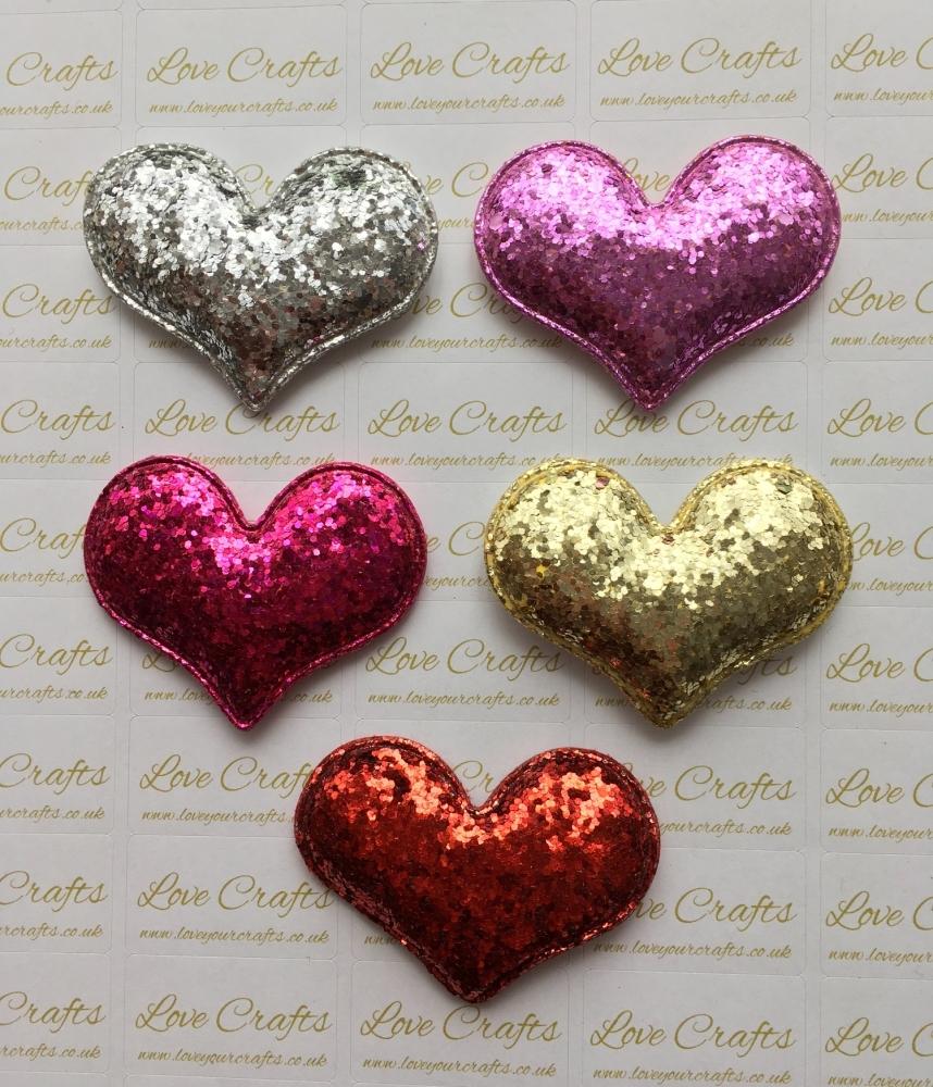 Padded Glitter Heart