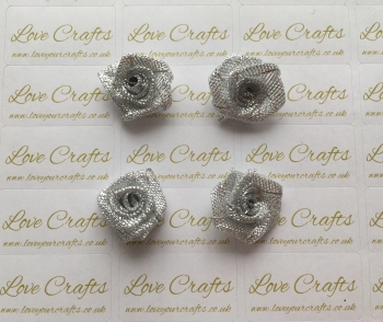 4x Silver Roses