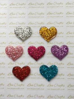 Glitter Heart Resin