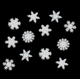 Dress It Up Buttons: Glitter Snowflakes