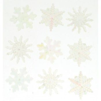 Dress It Up Buttons: Crystal Snowflakes