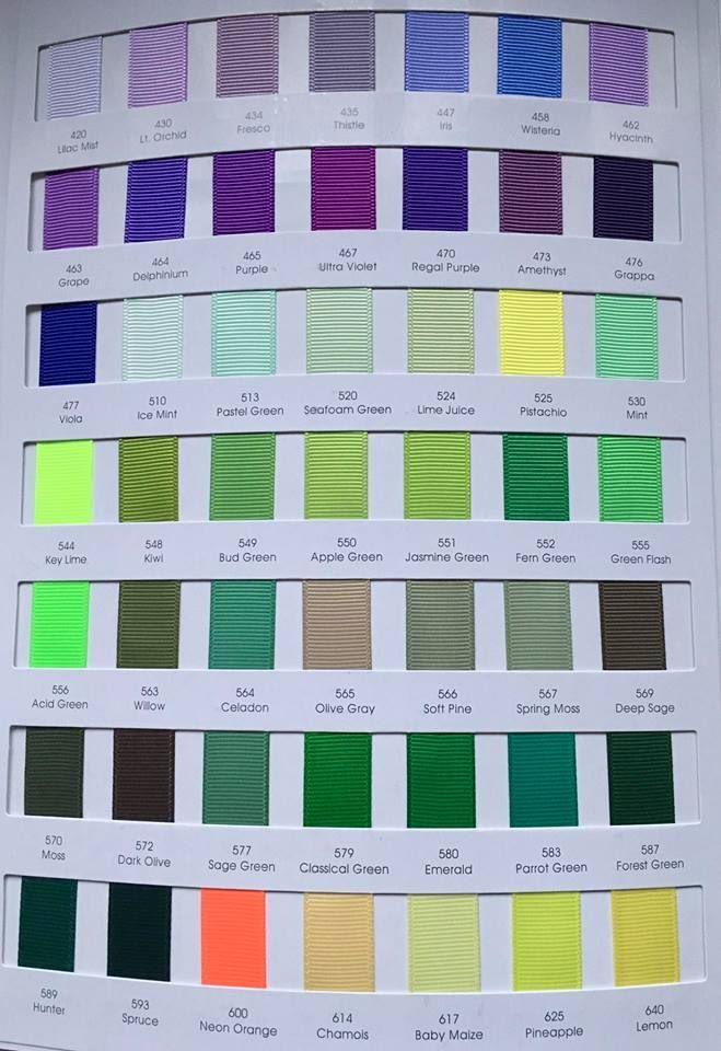#583 Parrot Green Grosgrain Ribbon