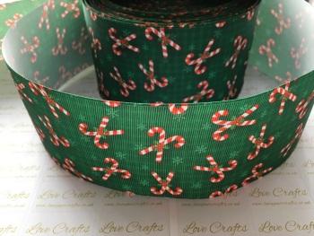 Candy Cane Grosgrain Ribbon