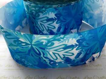 Crystal Snowflake Grosgrain Ribbon