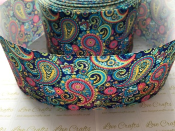 Paisley Grosgrain Ribbon