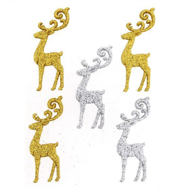 Dress It Up Buttons: Elegant Reindeer