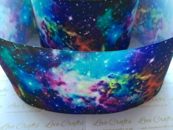 Galaxy Night Grosgrain Ribbon